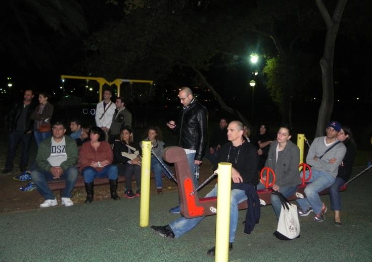 סיור לילה בתל אביב עם בוקי נאה לצעירי המחוז